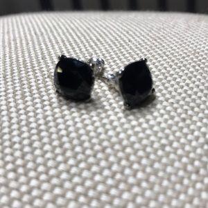 Black Crystal Stud Earring